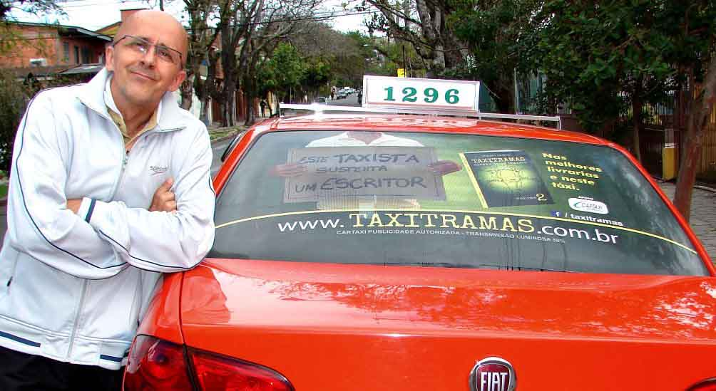 Easy Taxi apoia o escritor Mauro Taxista