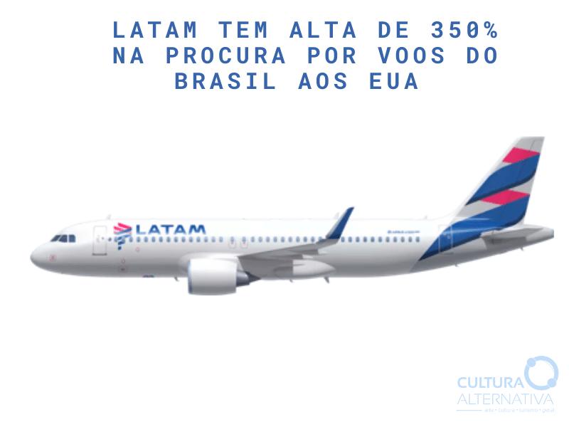 LATAM voos do Brasil aos EUA - Cultura Alternativa