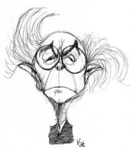 José Saramago na caricatura internacional