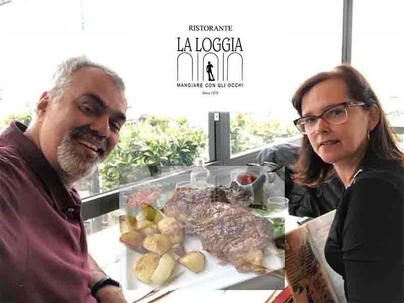 Restaurante La Logglia. Caminhos e Descaminhos na Itália. Praça Michelangelo em Florença