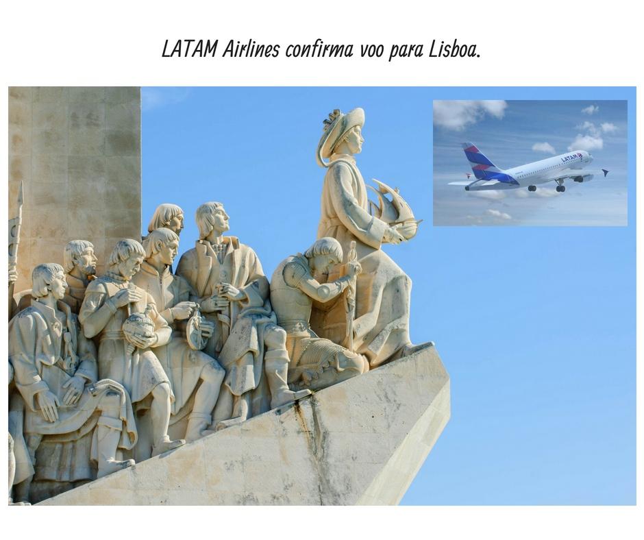 LATAM Airlines confirma voo para Lisboa.
