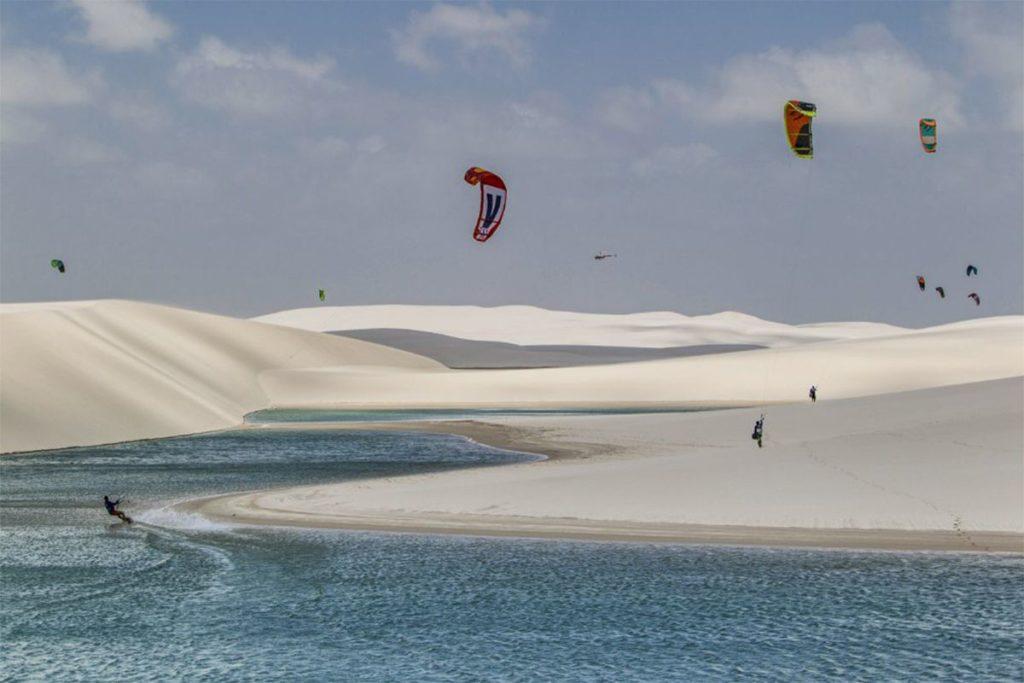 lugares no Brasil para se aventurar no kitesurf