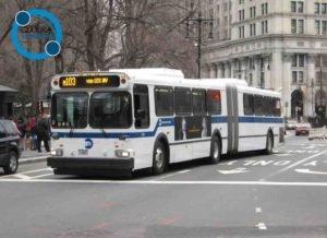Ande de ônibus em Nova York