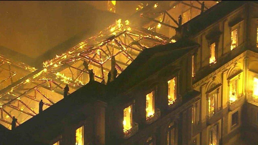 Incêndio no Museu Nacional no Rio de Janeiro