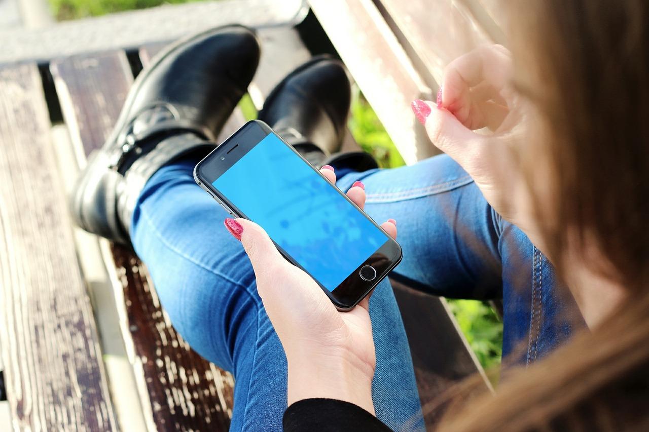 Luz azul do smartphone