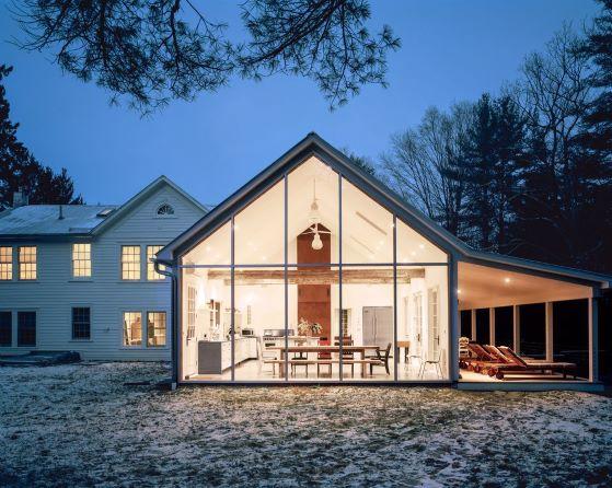 Casas feitas de vidro