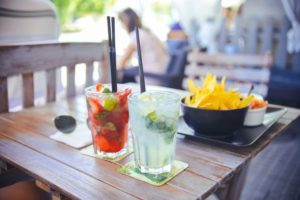 Custo da bebida na refeição