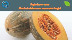 Segunda sem carne:Salada de abóbora com arroz-cateto integral