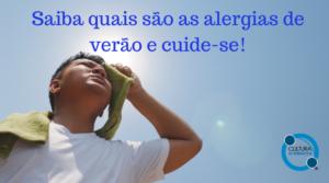Alergias de verão e cuide-se!