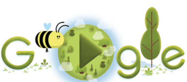 Dia da Terra com Doodle do Google