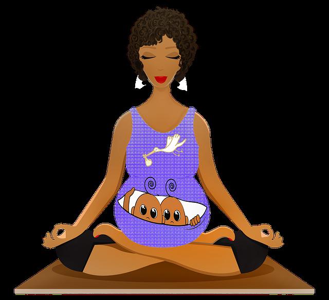 Yoga conexão entre mãe e filhos