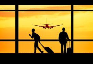 A chegada em países estrangeiros
