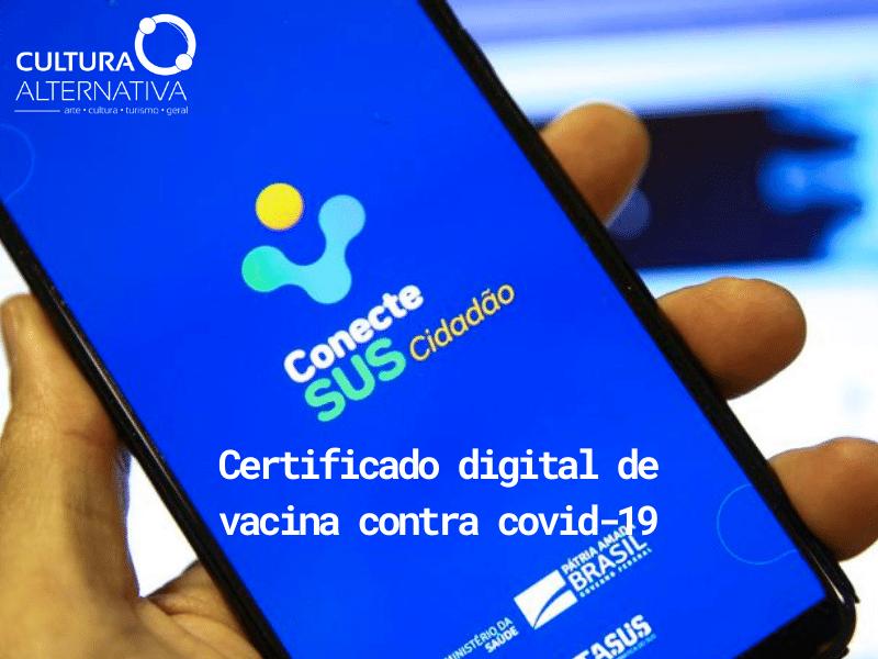 Certificado digital de vacina contra covid-19 - Cultura Alternativa