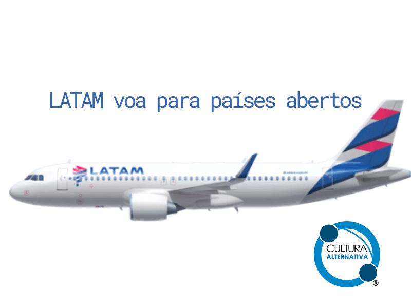 LATAM voa para países abertos - Cultura Alternativa