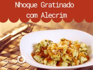 Nhoque Gratinado com Alecrim - cultura alternativa