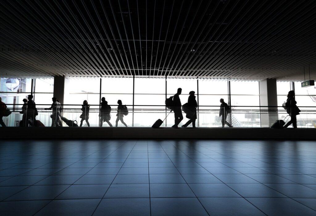 Aeroporto e Voo lotados no fim da pandemia